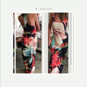 ISO Young Fabulous and Broke Tropical Print Maxi S
